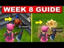 Fortnite WEEK 8 CHALLENGES GUIDE! – SEARCH HUNGRY GNOMES LOCATIONS, Treasure MAP (Fortnite Season 4)