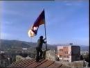 Флаг Арцаха в Степанакерте, 1992 год ✊