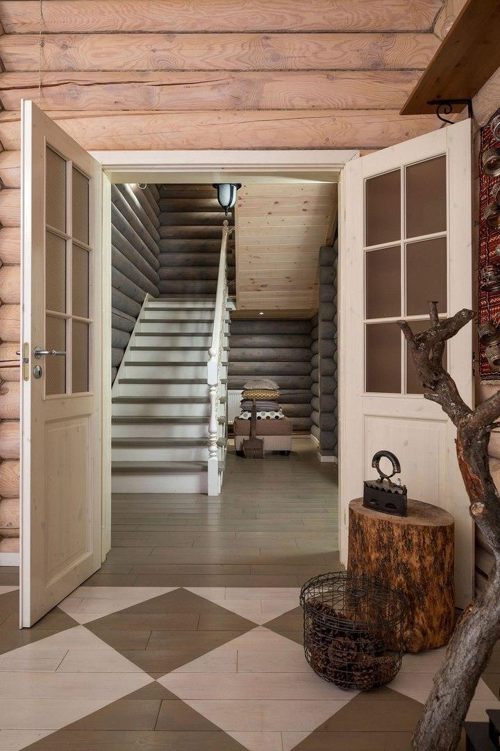 Дизайн бревенчатого дома