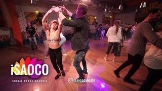 Sergey Bobkov and Aleksandra Strizhko Salsa Dancing in Respublica Vosmera, Monday 30.04.2018