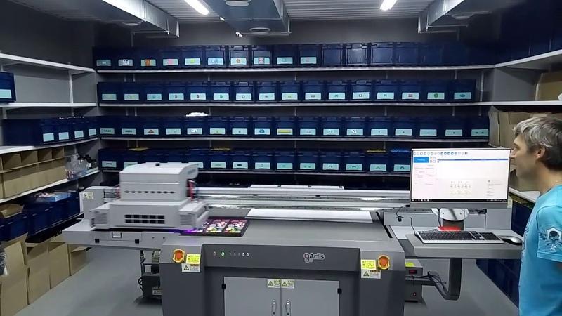 Планшетный УФ принтер Artis UVF1510 DG CE4