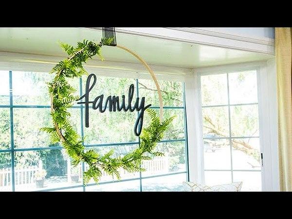 Paige Hemmis' DIY Hula Hoop Wreath - Hallmark Channel