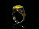 Кольцо Медовая королева Белое золото Позолота Черный родий Опал