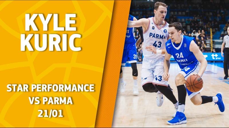 Star Performance Kyle Kuric vs PARMA career high 33 points