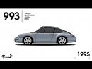 50 лет эволюции Porsche 911 за 90 секунд