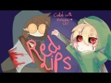 red lips - animation meme creepypasta (flipaclip) collab with bell the sheep
