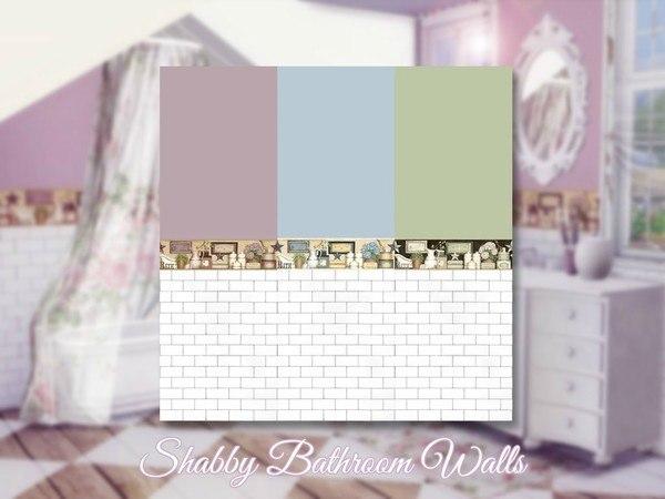 Shabby Bathroom Walls by Sooky