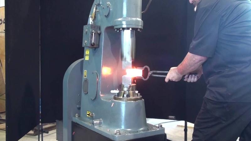Anyang 55 lb. HS power hammer forging 2 stock