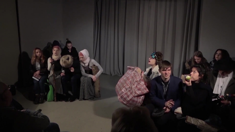 Массовый этюд Зал ожидания Рижского вокзала ВШТ МГУ Мастерство актёра