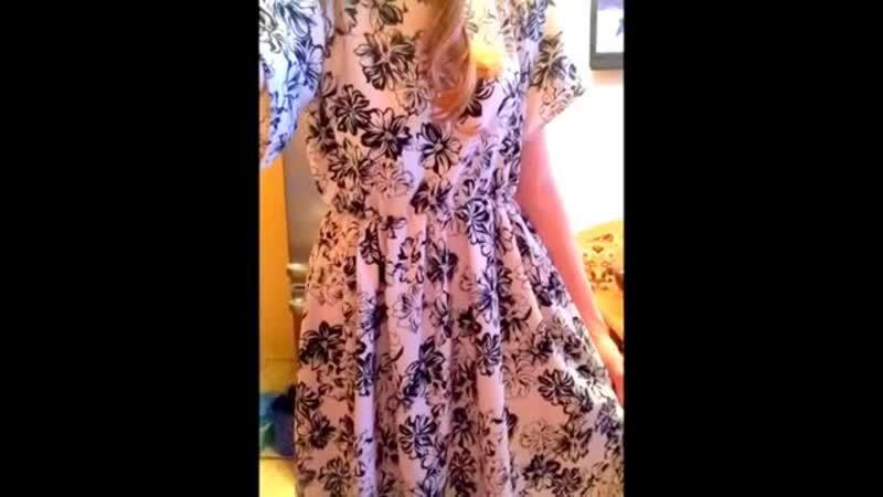 DIY_КАК СШИТЬ ДЛИННОЕ ПЛАТЬЕ НА ЛЕТО HOW TO SEW A LONG WHITE DRESS MADE FOR THE