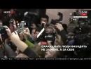 Киев, 11 декабря, 2017 . Саакашвили поет Гимн Украины в Печерском суде