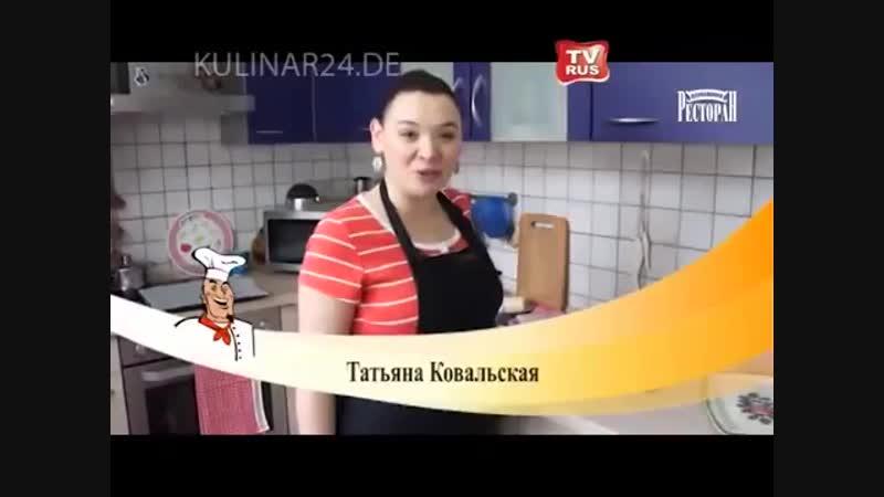 Открытые пирожки с солёной сёмгой Kulinar24TV