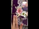 Свадебный фотоальбом (фиолетовый цветок)