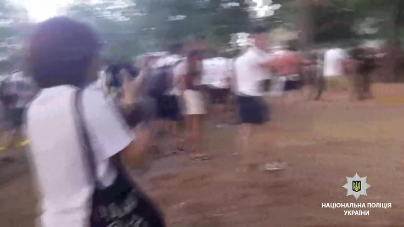 Столкновение болельщиков Шахтера и Динамо