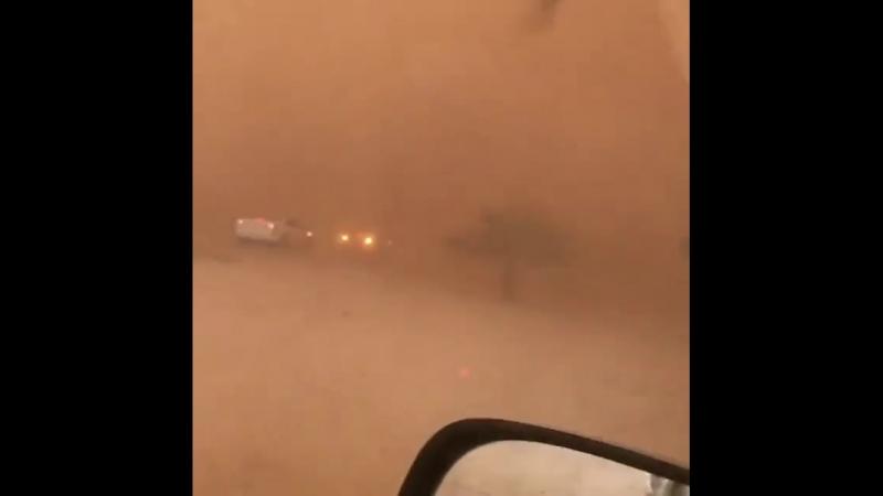 Наступление песчаной бури