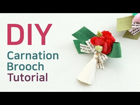 DIY/(SP045)카네이션꽃잎 브로치How to make a carnation brooch/carnation brooch tutorial/카네이션브로치/카네이션만들44592