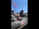 Конвой российских войск проходил через город Харра Северо Западный Дараа в сторону Голанских высот