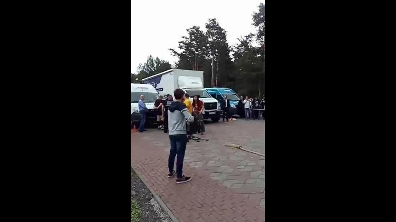 Челябинске впервые начелся Чемпионат УрФО по Truck Pull( Буксировка грузовика)