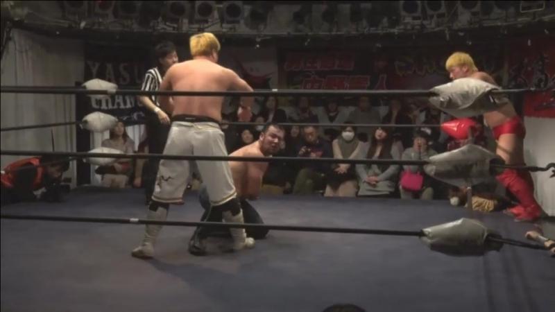 Ryuichi Sekine, Ryota Nakatsu vs. Takumi Tsukamoto, Yasu Urano (BASARA - Vajra 59 ~ One Mindless Body)