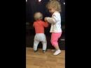 Афинка учит братика танцевать