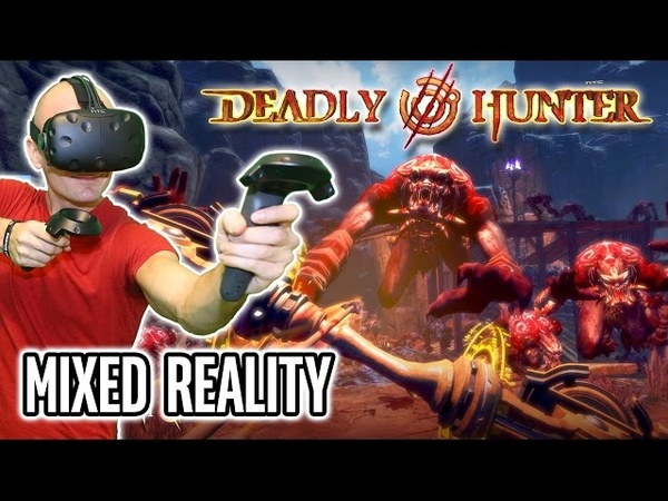 Deadly Hunter VR Gameplay in MIXED REALITY on HTC Vive - Superb FPS Archery-Defense VR Action!