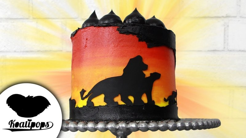 Lakomkavk The Lion King Silhouette Cake Disney Party Ideas