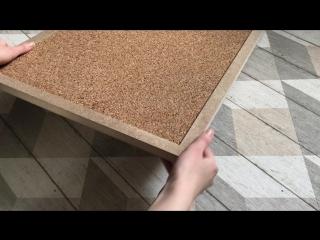 Пробковая доска для заметок с рамкой