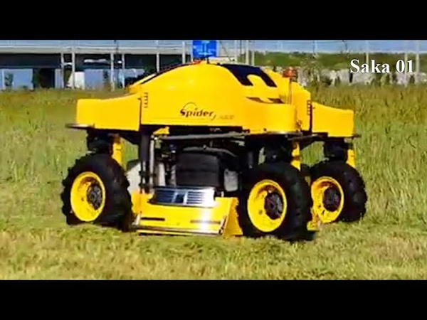 Modern Machines Agriculture Technology And Remote Control Grass Cutter HD720p