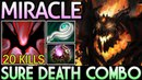 Miracle- Shadow Fiend Easy 20 Kills with Sure Death Combo Dota 2