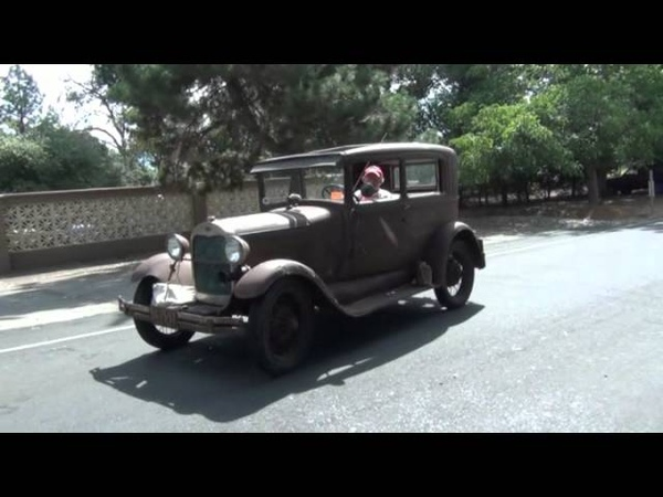 1929 Ford Model A Tudor drive about