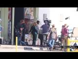 Brie Larson and Samuel L. Jackson Film Scene for Captain Marvel