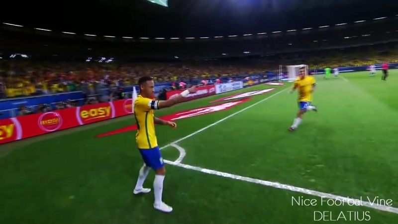Neymar катит в уголок | DELATIUS | vk.com/nice_football