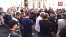 У Львові закидали помідорами проросійських провокаторів