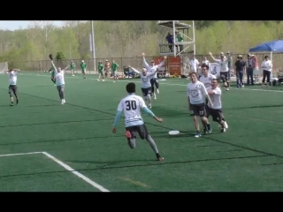 INSANE ENDING - Sudden Death Greatest-Layout Grab - UNCW vs Georgetown at 2018 Mens AC Regionals