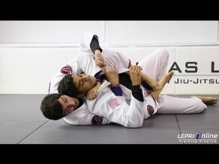 Lucas Lepri - De La Riva to Collar Drag Attempt to Berimbolo to Side Control Attempt to Back