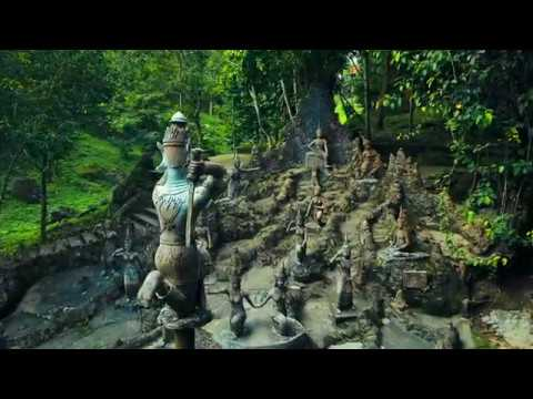 Mysterious and authentic magic garden of koh Samui