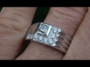 Certified Jewelry Men's Natural Fancy Color Diamond 18k White Gold Gentlemen's Ring - A141564