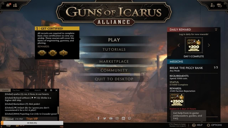 Guns Of Icarus Alliance - Кооперативные пираты!
