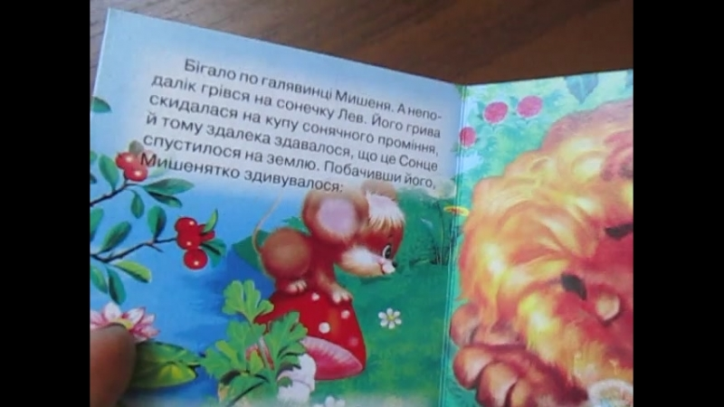 Компактная мелкая книжечкаКазка про лева та мишеня