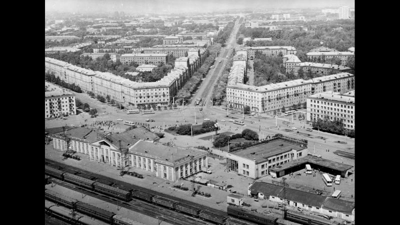 Привокзальная площадь Новокузнецка 1970 г