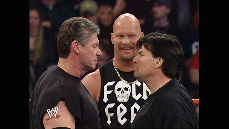 Vince McMahon vs Eric Bischoff WWE vs WCW Raw Feb 23 2004