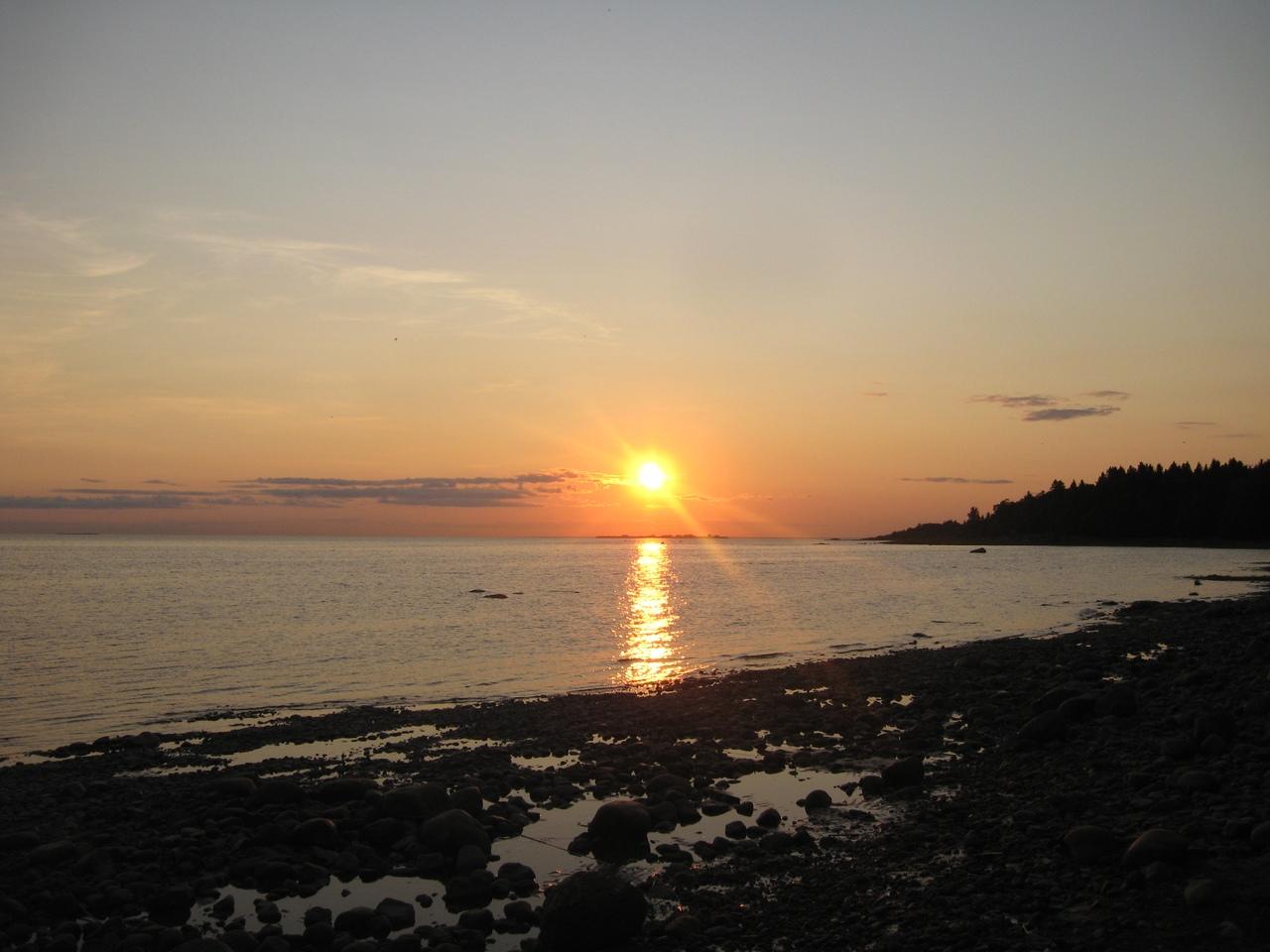 Тарховская коса. Вечерняя прогулка по Финскому заливу.