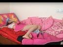 Мое утро с гимнастика ! Так хотелось поспать на каникулах но Ева разбудила ! My morning gymnastics !