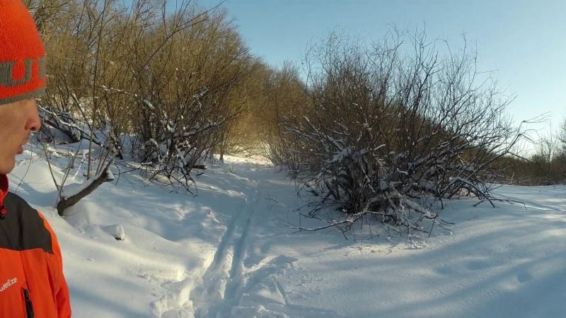 Самара место в котором я живу - Пропиливаем завалы в протоках Зимой для каяка 2