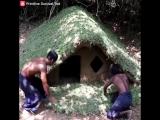 Как построить подземный деревянный дом