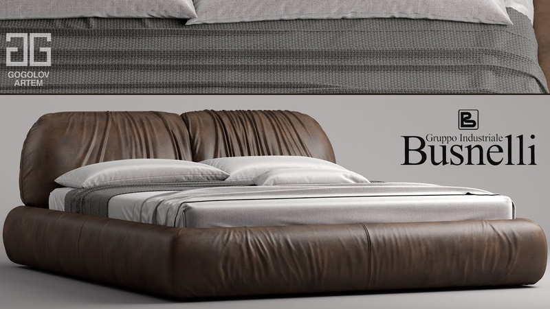 №90.Моделирование кровати Busnelli PIUMOTTO в 3d max и marvelous designer