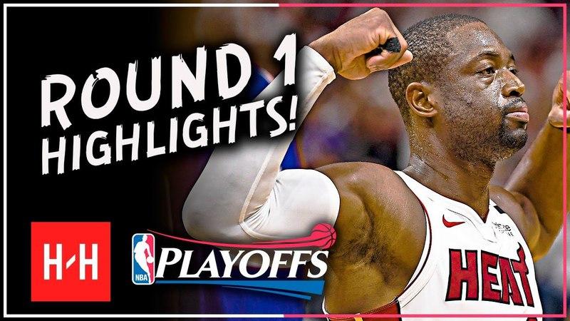 Last NBA Game Dwyane Wade Full ROUND 1 Highlights vs Philadelphia 76ers All GAMES 2018 Playoffs