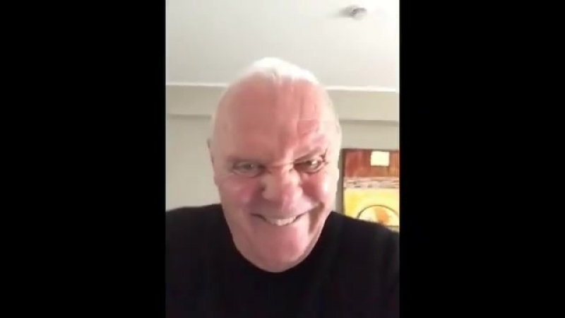 Энтони Хопкинс сошёл с ума. Anthony Hopkins - This is what happens when you're all work and no play... (22.04.2018)