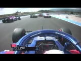 France 2018 Gasly and Ocon collide on Lap 1