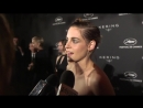 KristenStewart talks participating in the Cannes2018 womens march